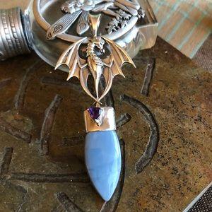 Jewelry - Dragon Owahee Opal Sterling Silver Pendant